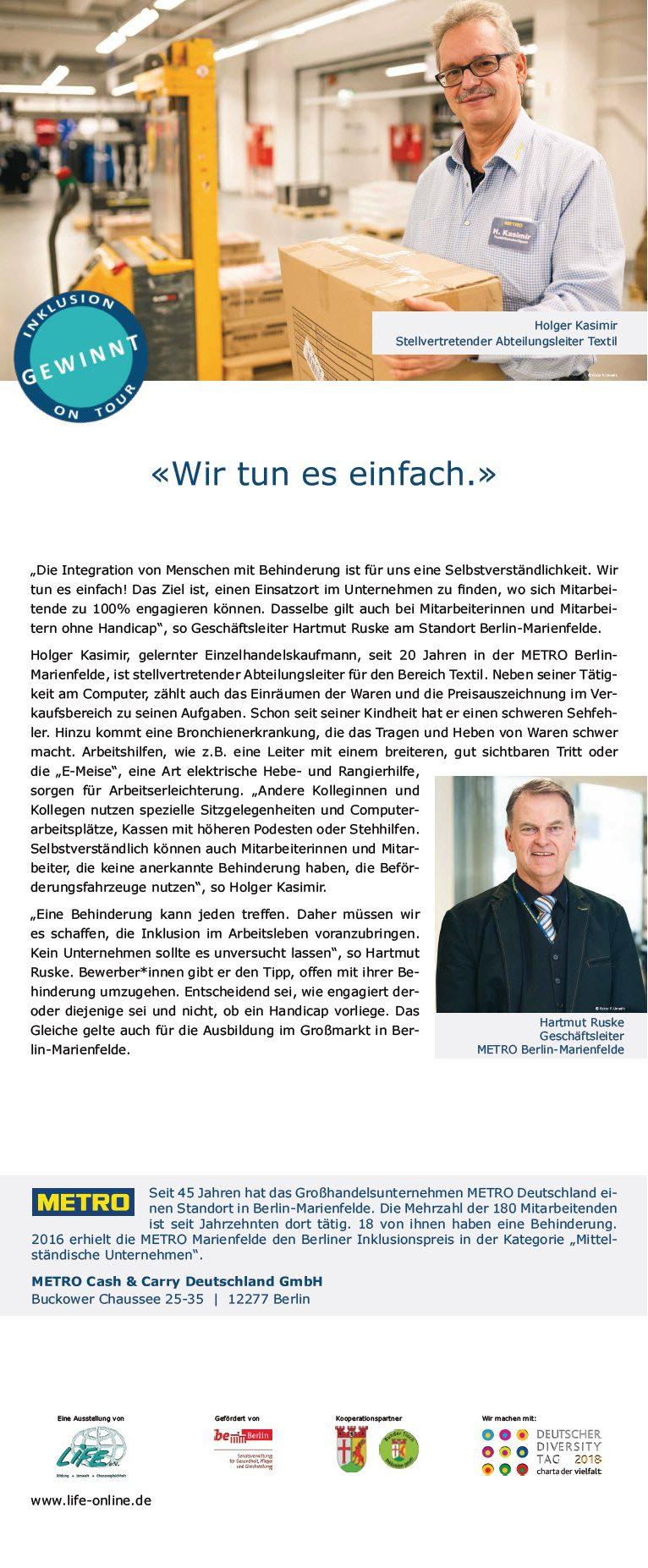 "Roll-Up METRO Berlin Marienfelde, Wanderausstellung ""Inklusion gewinnt! On Tour"""