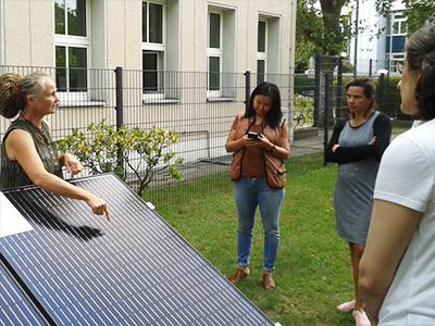 Exkursion zum SolarZentrum Berlin im Effizienzhaus Plus