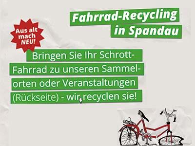 Fahrrad-Recycling in Spandau