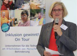 Foto Angelika Schöttler während ihrer Eröffnungsrede
