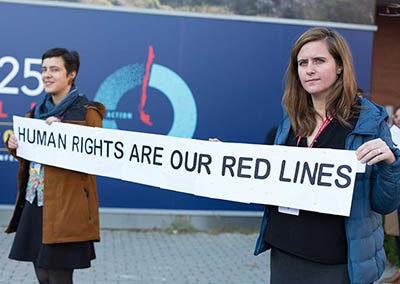 Lokale Aktivistinnen auf der UN Klimakonferenz