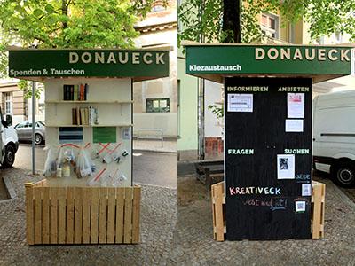 Das Donaueck – eine Litfaßsäule zum Mitmachen
