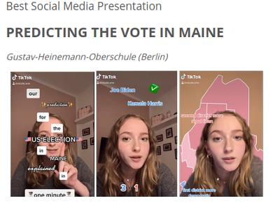 U.S.-Wahl: Schüler*innen prognostizieren Sieg für Biden